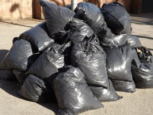 Bags of garbage